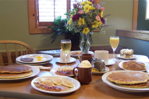 Start your day here! We offer a full breakfast menu.