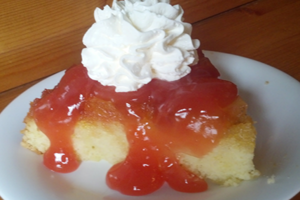 It's a holiday weekend! Stop in and enjoy our homemade Pineapple Upside-down cake.