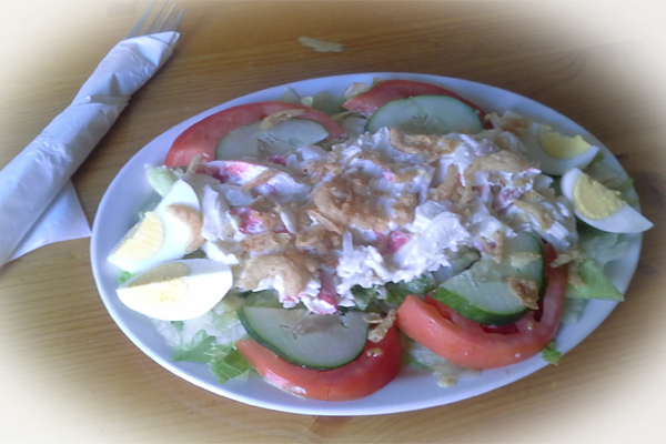 Try our September Specials  – Crab Salad or a Crab Salad Wrap