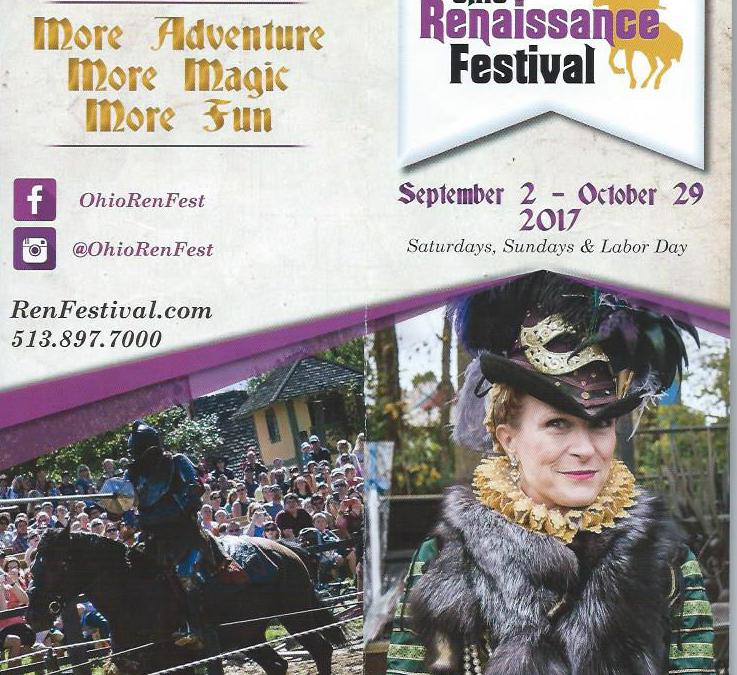 Ohio Renaissance Festival Opens 9/2